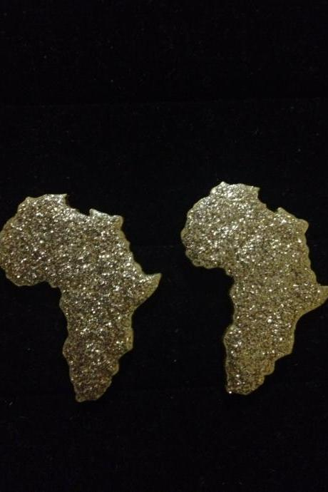 Shine Bright Studs / Africa / Africa Earrings/ Handmade Earrings / Afrocentric Earrings / Statement Earrings/ Wooden Earrings/ Afrocentric