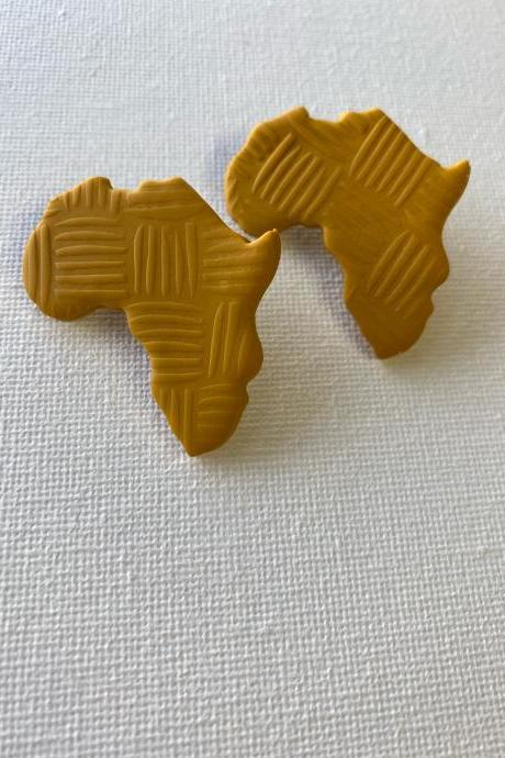 Africa / Africa Earrings / Afrocentric Earrings / Polymer Clay Earrings / Statement Earrings/ Stud Earrings/ Polymer Clay